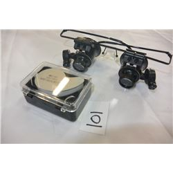 JEWELLERS GLASSES AND LOUPE