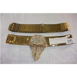 TWO METAL SCALED BELTS