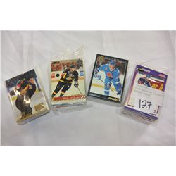 FOUR PACKS OF COLLECTIBLE HOCKEY CARDS