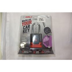 """BOLT 2"""" PADLOCK WORKS WITH EARLY MODEL CHEVROLET CADDILAC"""