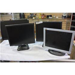 FOUR COMPUTER MONITORS