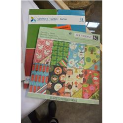 LOT OF NEW CRAFT PAPER, CARDSTOCK & ORGANIZERS