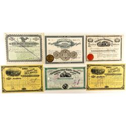 Rare Iowa Railroad Stock Certificates (6)