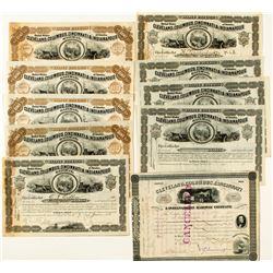 Cleveland, Columbus, Cincinnati & Indianapolis Railway Stock Certificates (10)