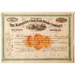 Mahoning Coal Rail Road Company Stock Certificate