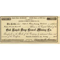Oak Ranch Deep Gravel Mining Co.