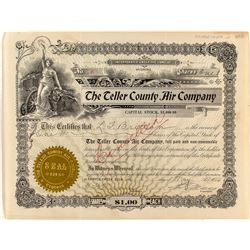 The Teller County Air Company Stock Certificate (Compressed Air for Mines)