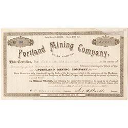 Portland Mining Company Stock Certificate