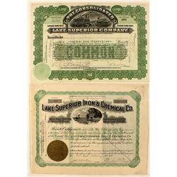 Lake Superior Mining Certificates