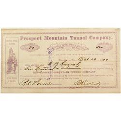 Prospect Mountain Tunnel Company Stock Certificate