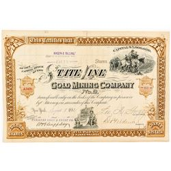State Line Gold Mining Co. No. 2 stock certificate