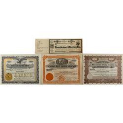 Humboldt Nevada stock certificates (4)