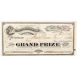 Tuscarora, Nevada - Grand Prize Stock Certificate