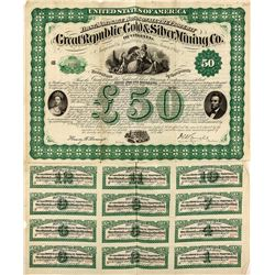Great Republic Gold & Silver Mining Co. of Virginia Bond