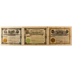 New Mexico Gold Mining Stock Certificates