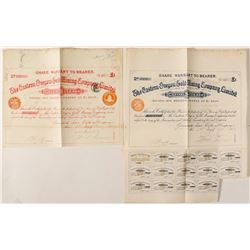 Eastern Oregon Gold Mining Company Stock Certificates