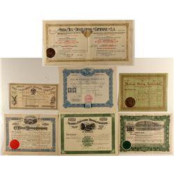 Mexico Mining Stock Certificates
