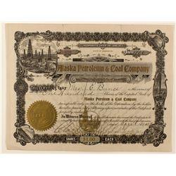 Alaska Petroleum & Coal Co. Stock Certificate
