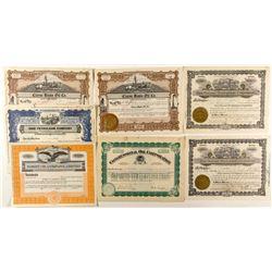 Nevada Oil Stock Certificates