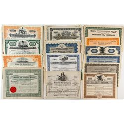 Oil Company Stock Certificate Collection