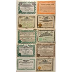 Auto Repair Stock Certificates