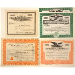 Body Shops Stock Certificates