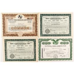"""Video"" Company Stock Certificates"