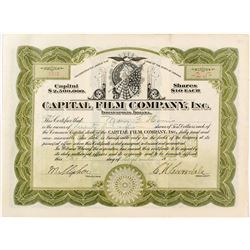 Capital Film Company Stock Certificate
