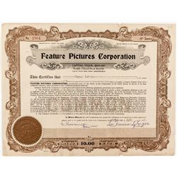 Feature Pictures Corporation Stock Certificate
