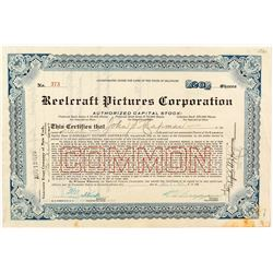 Reelcraft Pictures Corporation Stock Certificate