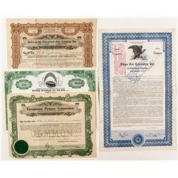 Television Related Stock Certificates