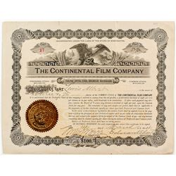The Continental Film Company Stock Certificate
