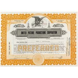 United Picture Productions Corporation Stock Certificate