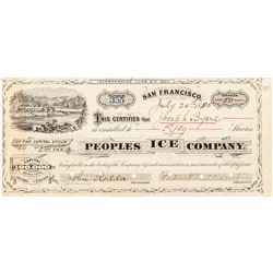 Peoples Ice Company Stock Certificate