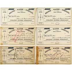 Santa Cruz Area Water Stock Certificates