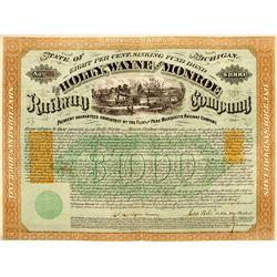 Revenue Imprinted Bond for Holly, Wayne & Monroe Railway