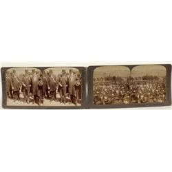 Two Stereoviews feat. Theodore Roosevelt Visit