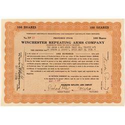 Winchester Repeating Arms Company Stock Certificate