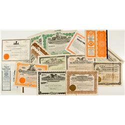 Arizona Non-Mining Stock Certificates (Concrete, Railroad, Oil)