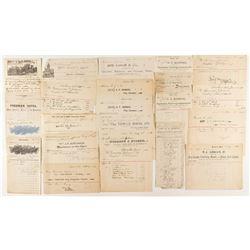 Auburn 1890s Billhead Collection