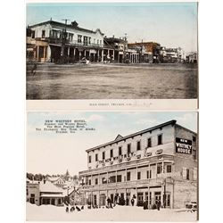 Two Early Hand Colored Truckee Postcards