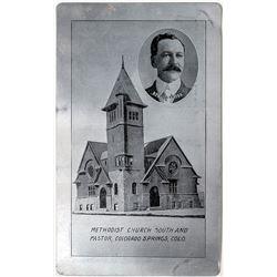 Early Metal Postcard from Colorado Springs