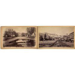 Two choice c1890 Colorado Springs Photographs