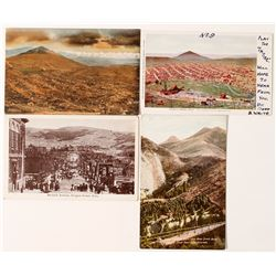 Four Cripple Creek Postcards from Colorado Publishers