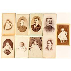 9 Western portrait CDVs
