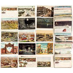 Denver Street Scenes and Birds Eye Views Postcards