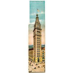Tri-Panel Postcard of Denver