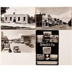 Florence, Colorado Street Views Postcards