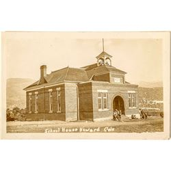 School House In Howard, Colorado Real Photo Postcard