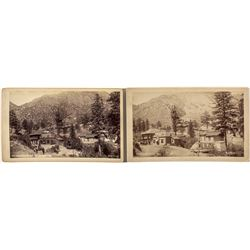 Two Photographs of Iron Springs, Manitou